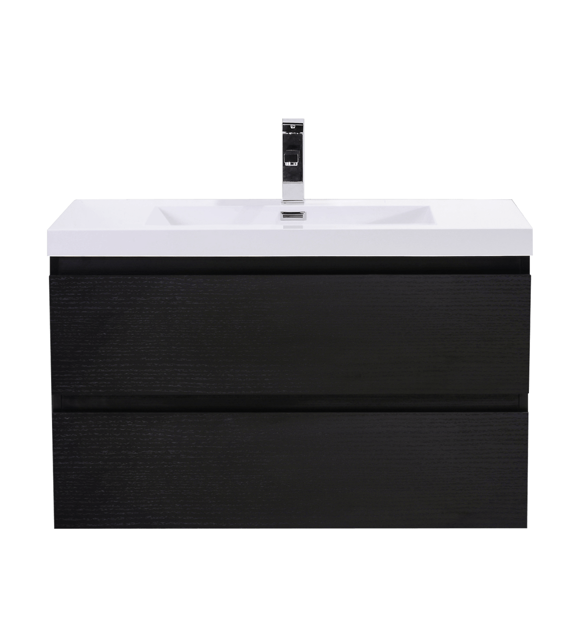 moreno mob 36 black wall mounted modern bathroom vanity with reeinforced acrylic sink
