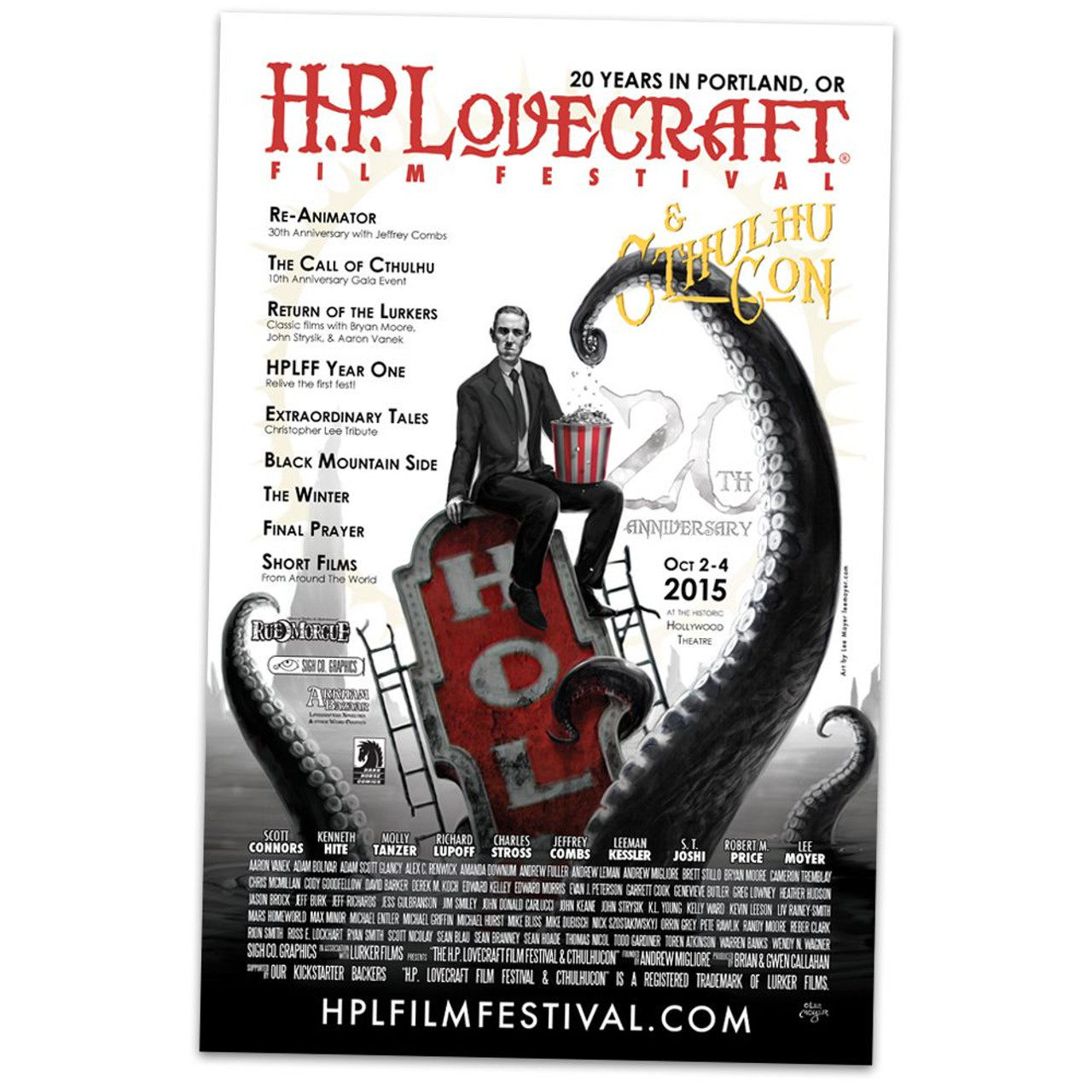 20th anniversary h p lovecraft film festival official poster