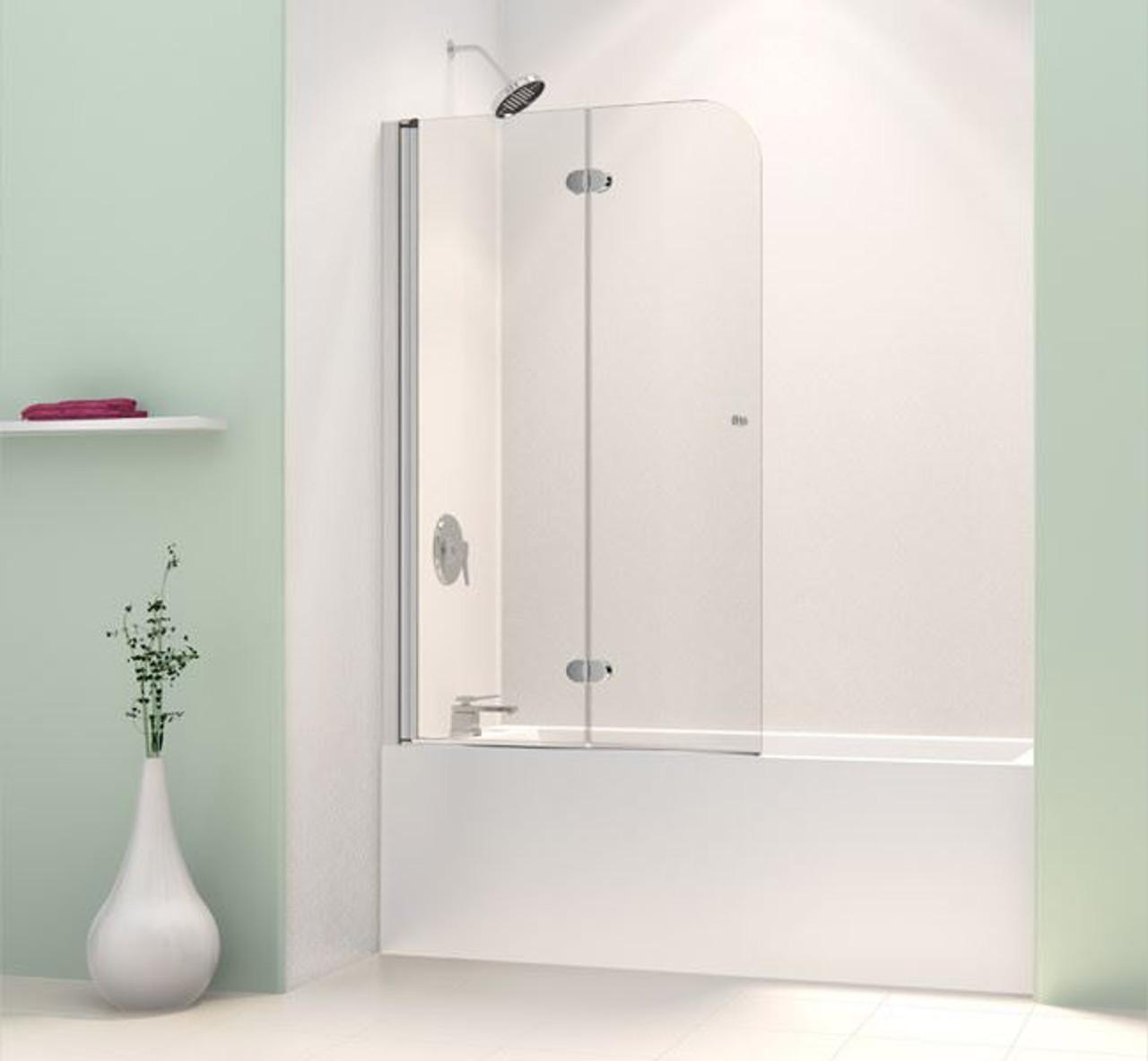 Bifold Glass Bathtub Doors Frameless Aqua Fold