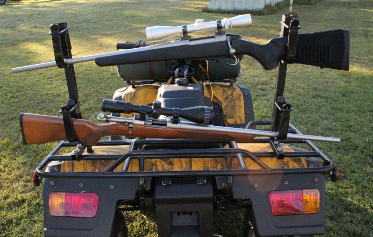 max guard double quad bike atv gun bow rack under over