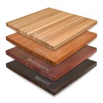Solid Maple Wood Butcher Block Restaurant Round Table Top