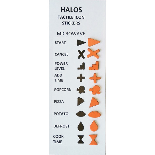 halos tactile microwave stickers 2 sets per pack