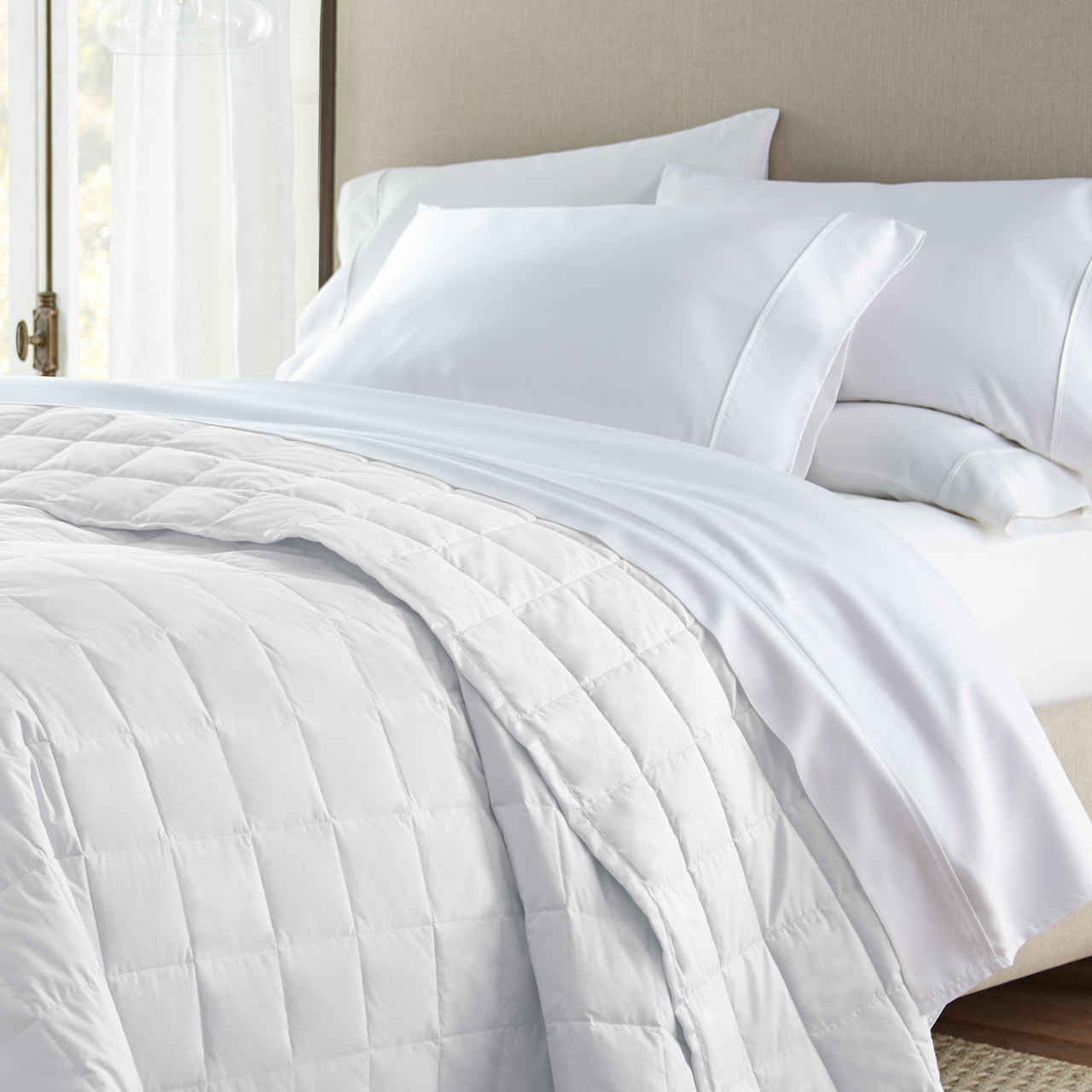 stearns foster 600 thread count primacool sheet set taupe color queen size only