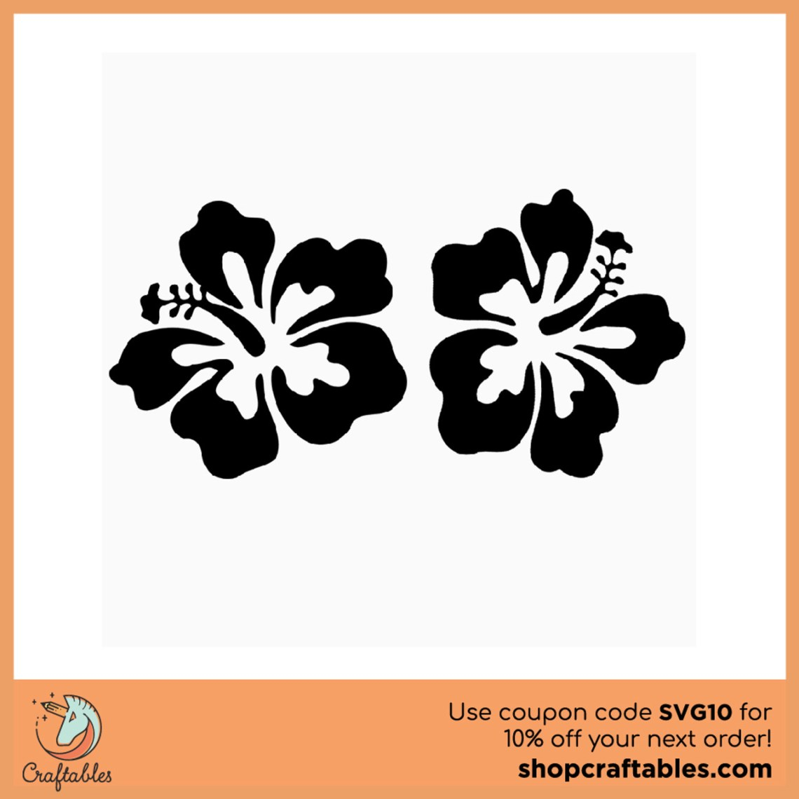 Download Free Hibiscus SVG Cut File   Craftables
