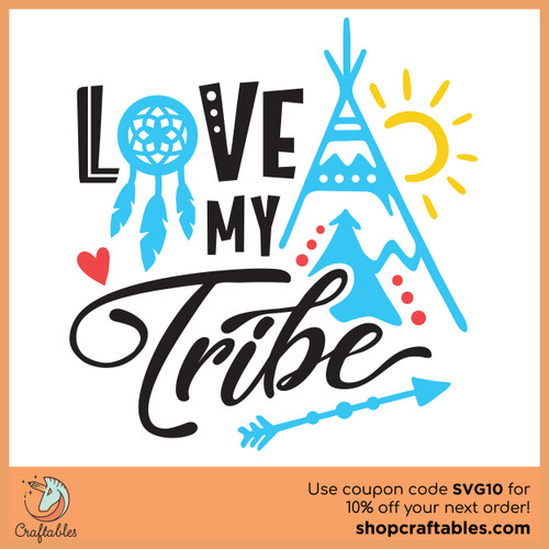 Download Free Love My Tribe SVG Cut File | Craftables