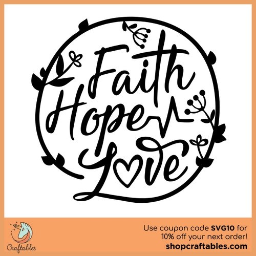 Download Free Faith Hope Love SVG Cut File | Craftables