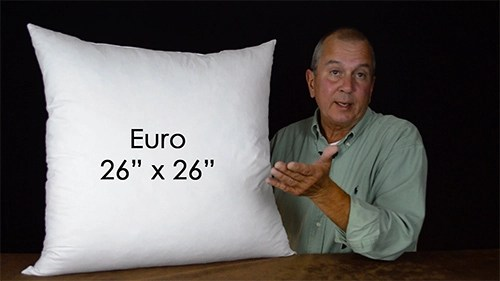 size pillows used in bedding