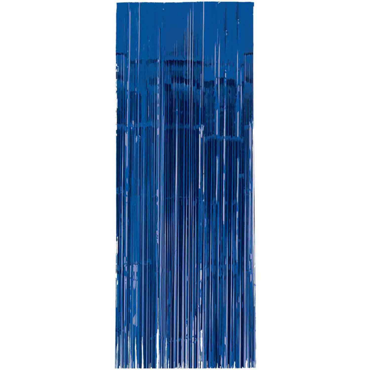 royal blue metallic foil curtain