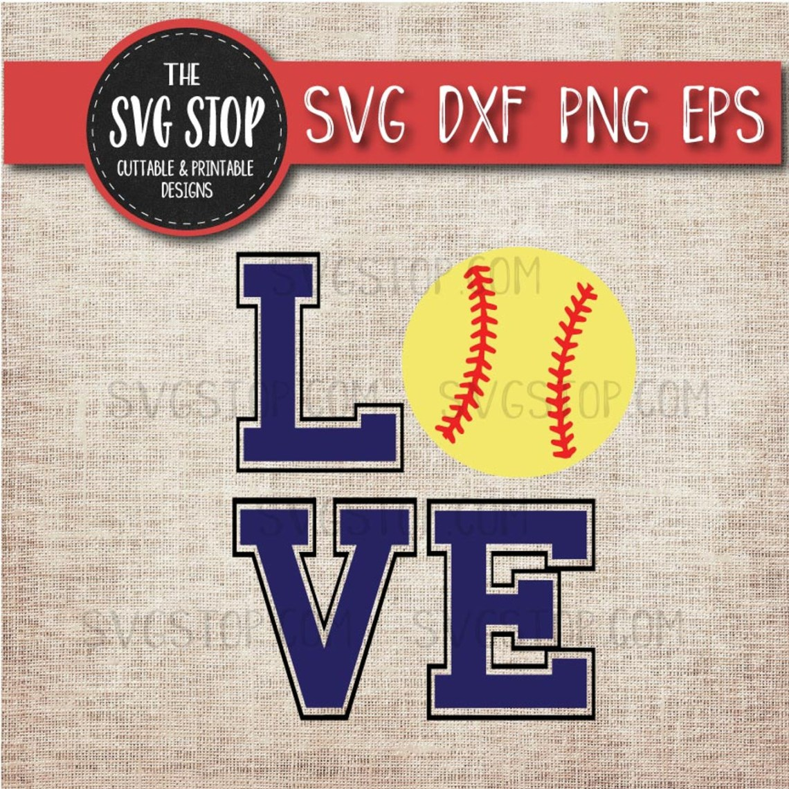 Download Love Softball Svg Cut File Clipart | The SVG Stop