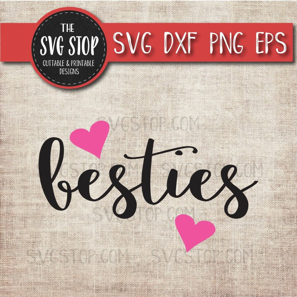 Download Besties Hearts Design Svg Cut File Clipart | The SVG Stop