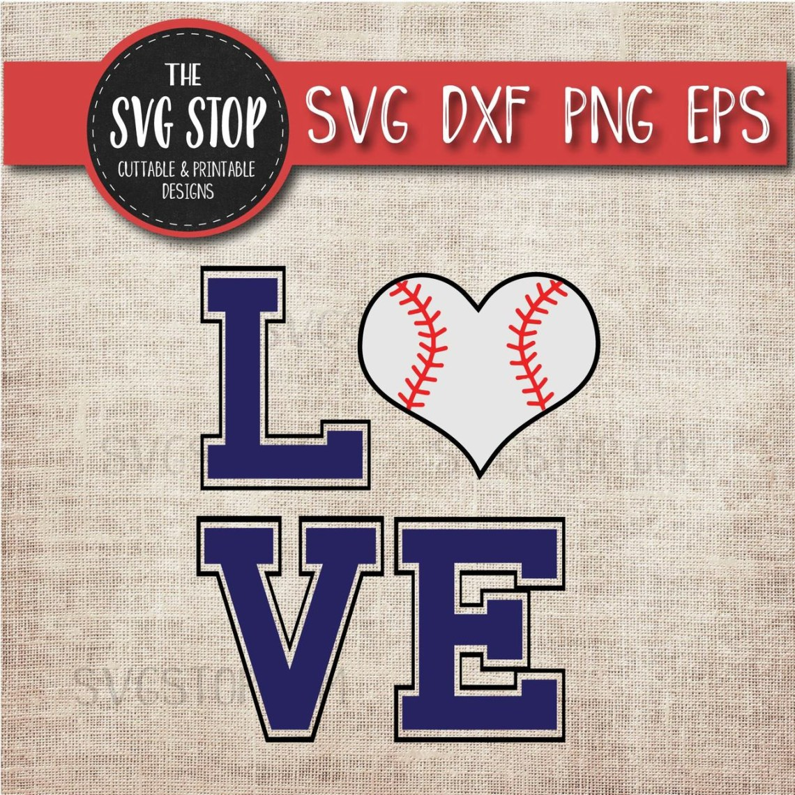 Download Baseball Love Heart Svg Cut File Clipart | The SVG Stop