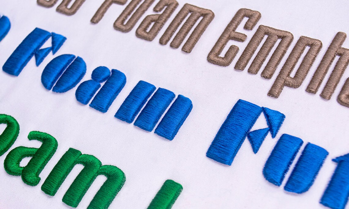 Download Font Pack #11 - 3D Puffy #2 - Hatch Embroidery