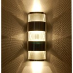 Stacked Ziggurat Wall Sconce Light Up Down Light