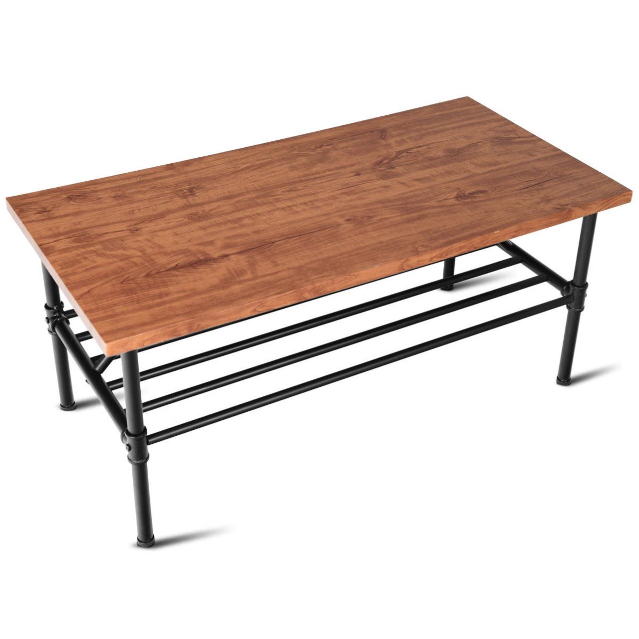2 tier living room furniture shelf coffee table hw58647