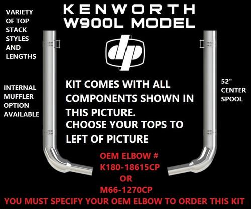 kenworth w900l w 40 step 6 oem elbow exhaust kit