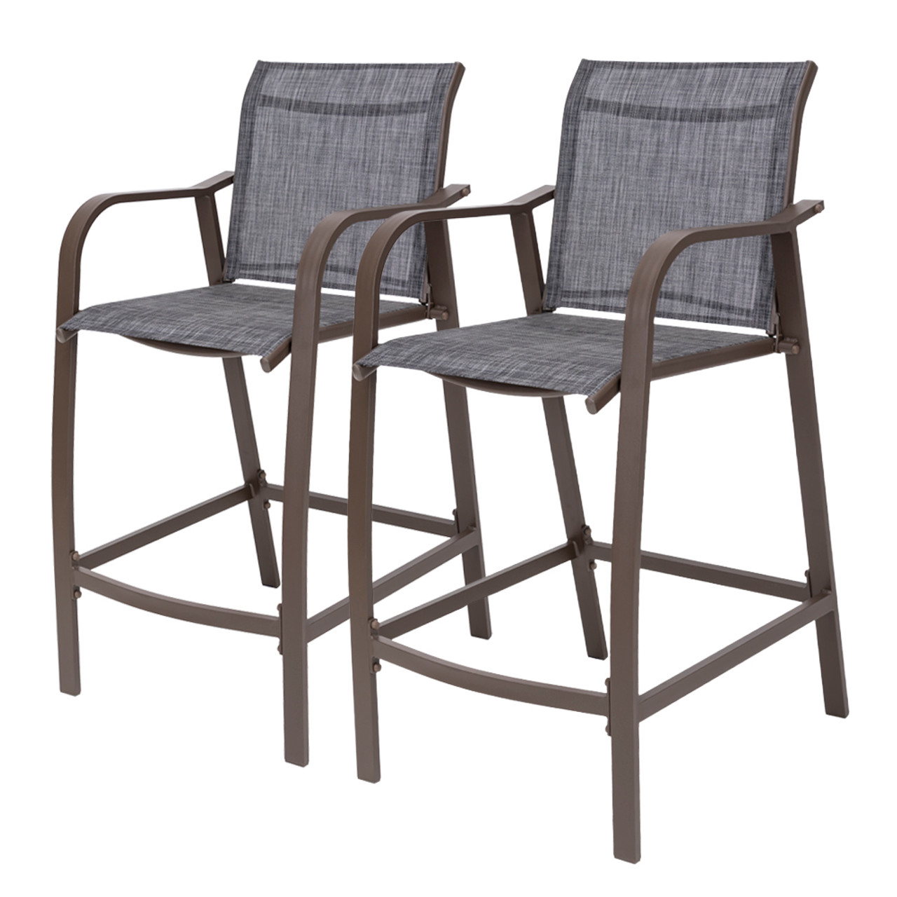 crestlive products 2 piece counter height bar stools all weather patio furniture