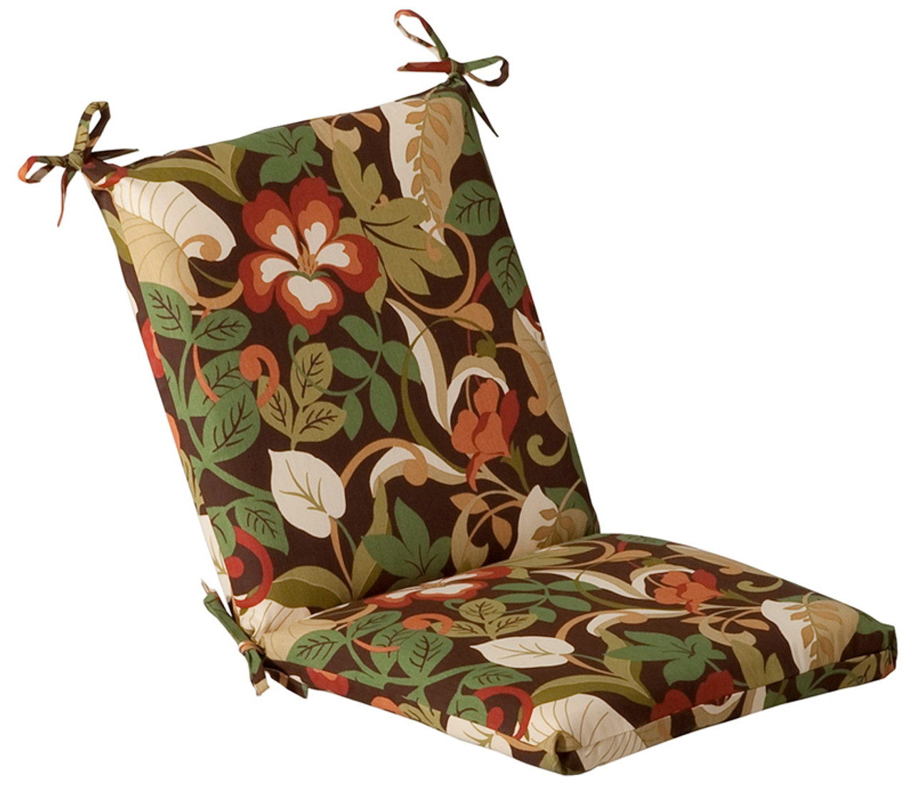 green and white floral outdoor patio furniture corner chair cushion 36 5