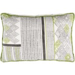 13 X 19 Dark Lime Green And Frost White Decorative Rectangular Throw Pillow Poly Filled 32216465