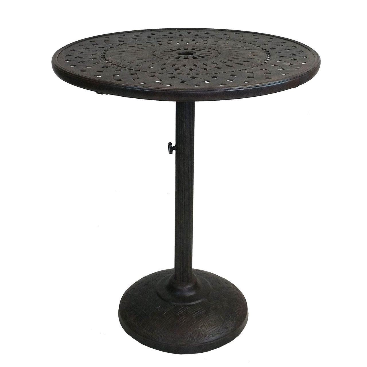 40 75 brown and black round ornate outdoor patio furniture bar table