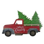 31 Red Wooden Merry Christmas Pick Up Truck Christmas Tabletop Decoration Christmas Central