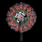 8 Lighted Silver Starburst Christmas Tree Topper Multicolor Lights Christmas Central