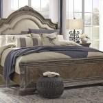 The Charmond Brown King Upholstered Sleigh Bed Available At 5 Star Furniture Serving Houston Tx And Surrounding Areas