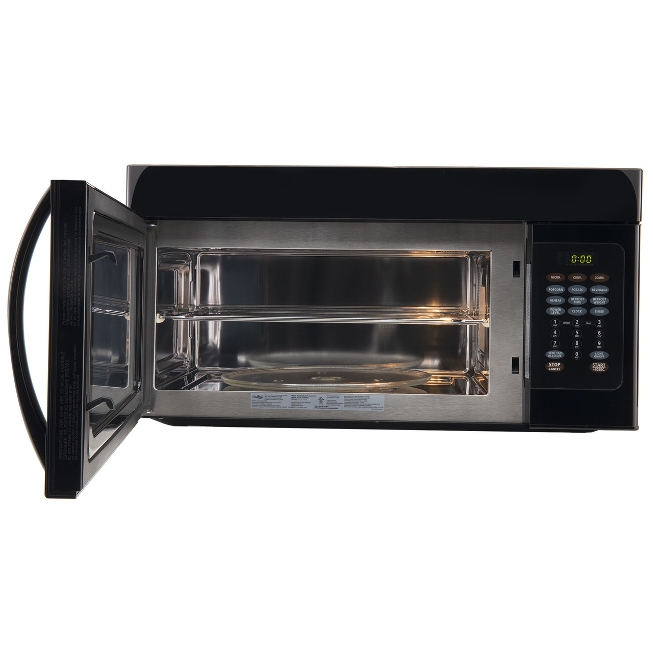 rv microwave 30 over the range convection oven black finish