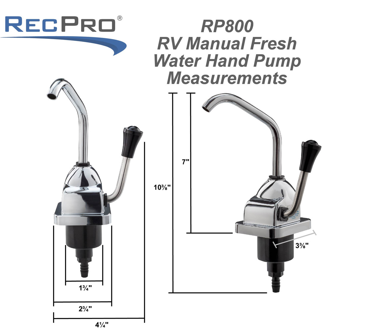rv manual water faucet with pump