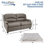 Recpro Charles 65 Rv Sleeper Sofa W Hide A Bed Recpro