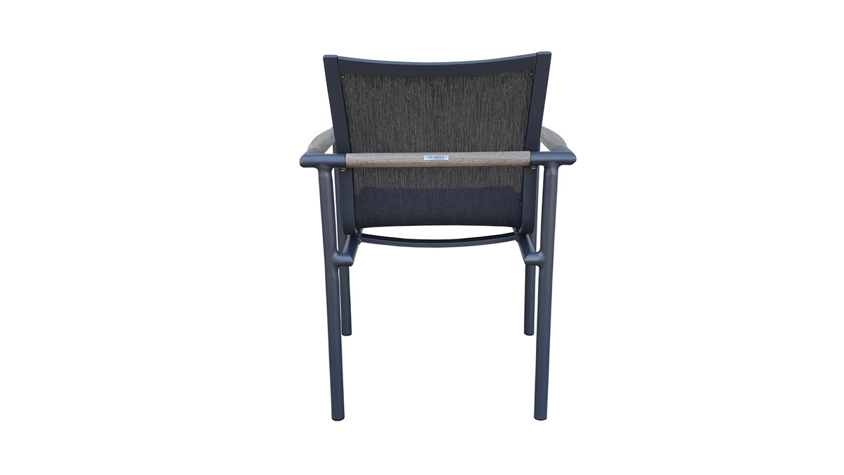 Bastingage Outdoor Dining Arm Chair Space Grey Stackable