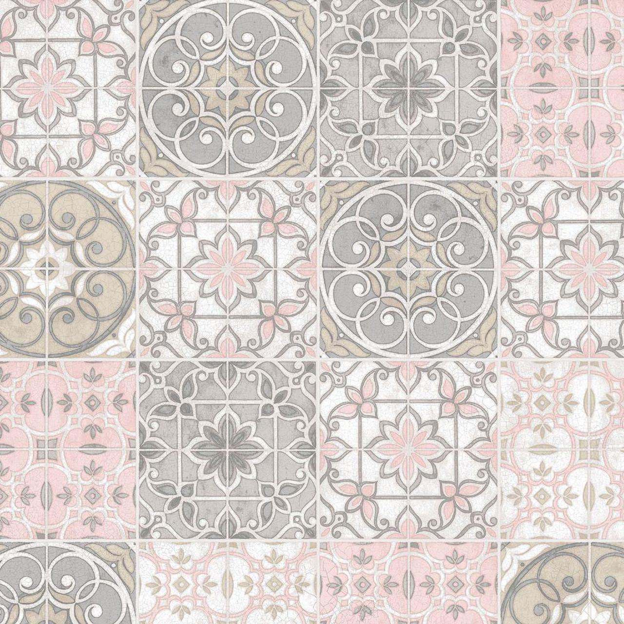 kitchen style 3 ceramic tile wallpaper ck36611 pink grey