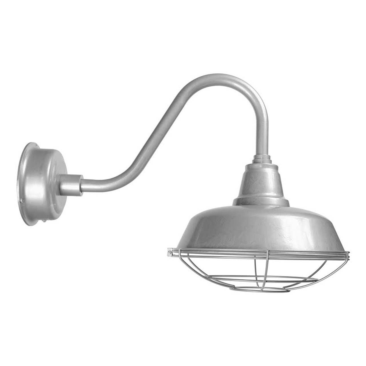 goodyear 14 quot galvanized silver rustic led barn light w Galvanized Barn Light id=90107