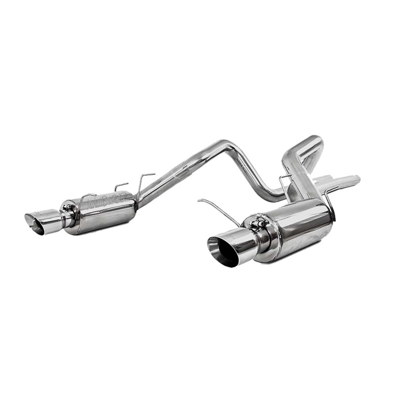 mbrp t409 stainless steel 3 cat back dual split rear street for ford mustang gt s7258409