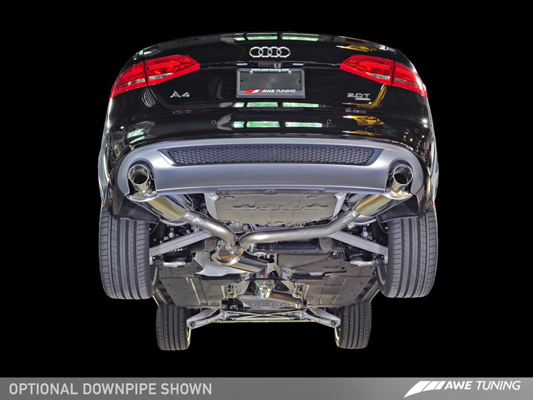 awe tuning cat back exhaust for 2013 2014 audi a4 b8 5 2 0t fwd quattro touring edition