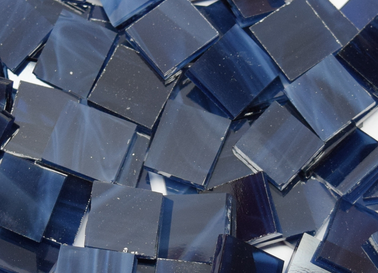 navy blue wispy stained glass mosaic tiles coe 96