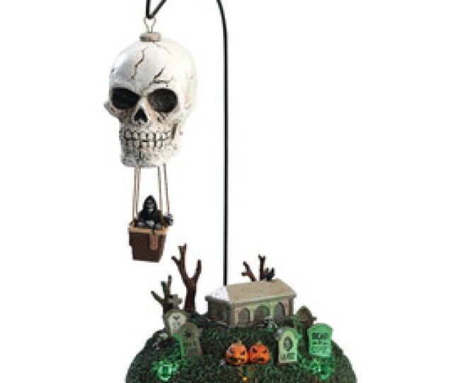 Lemax Spooky Town Reapers Landing Lighted And Animated Tabletop Accessory