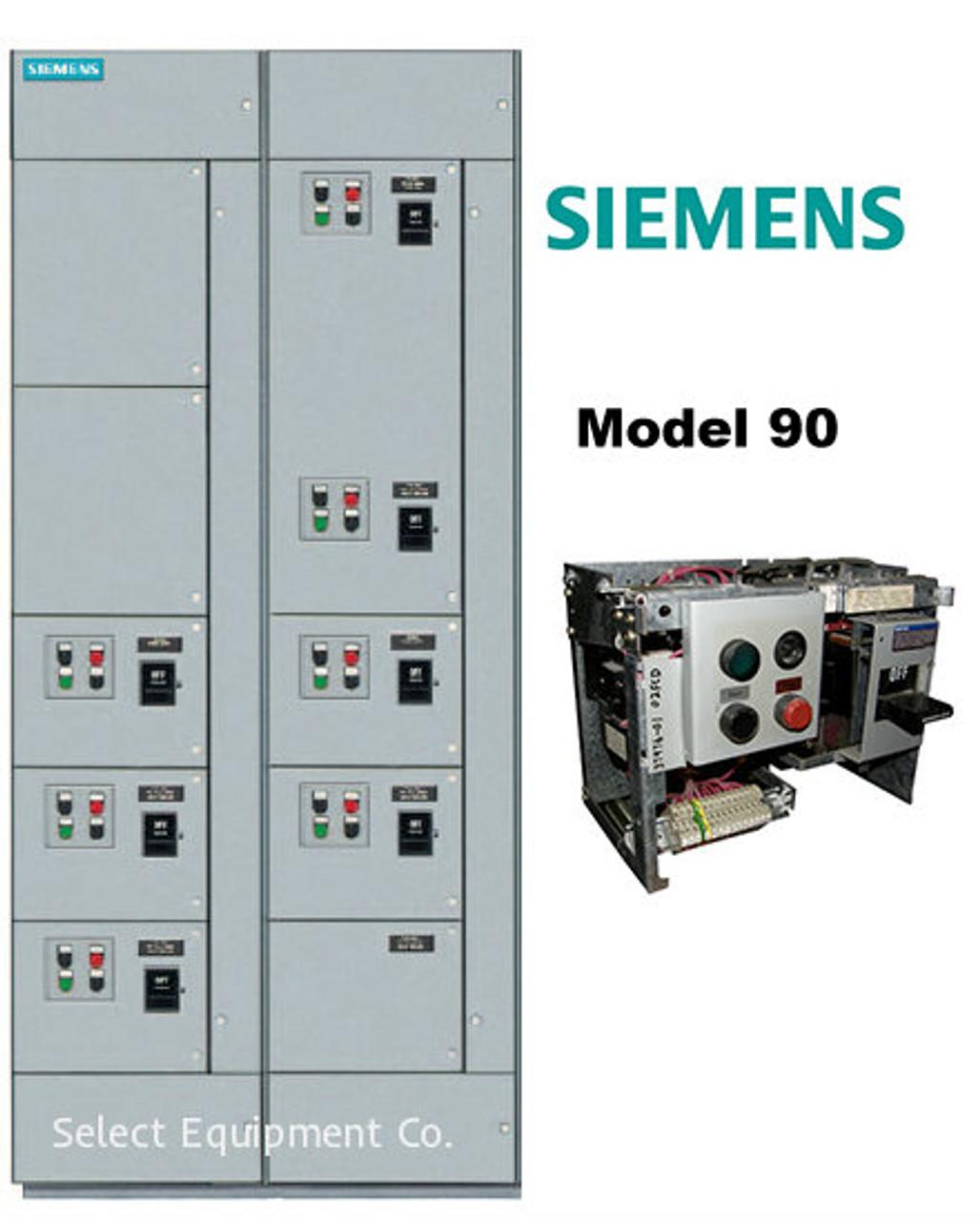 Siemens Model 90 MCC Buckets & Motor Control Centers