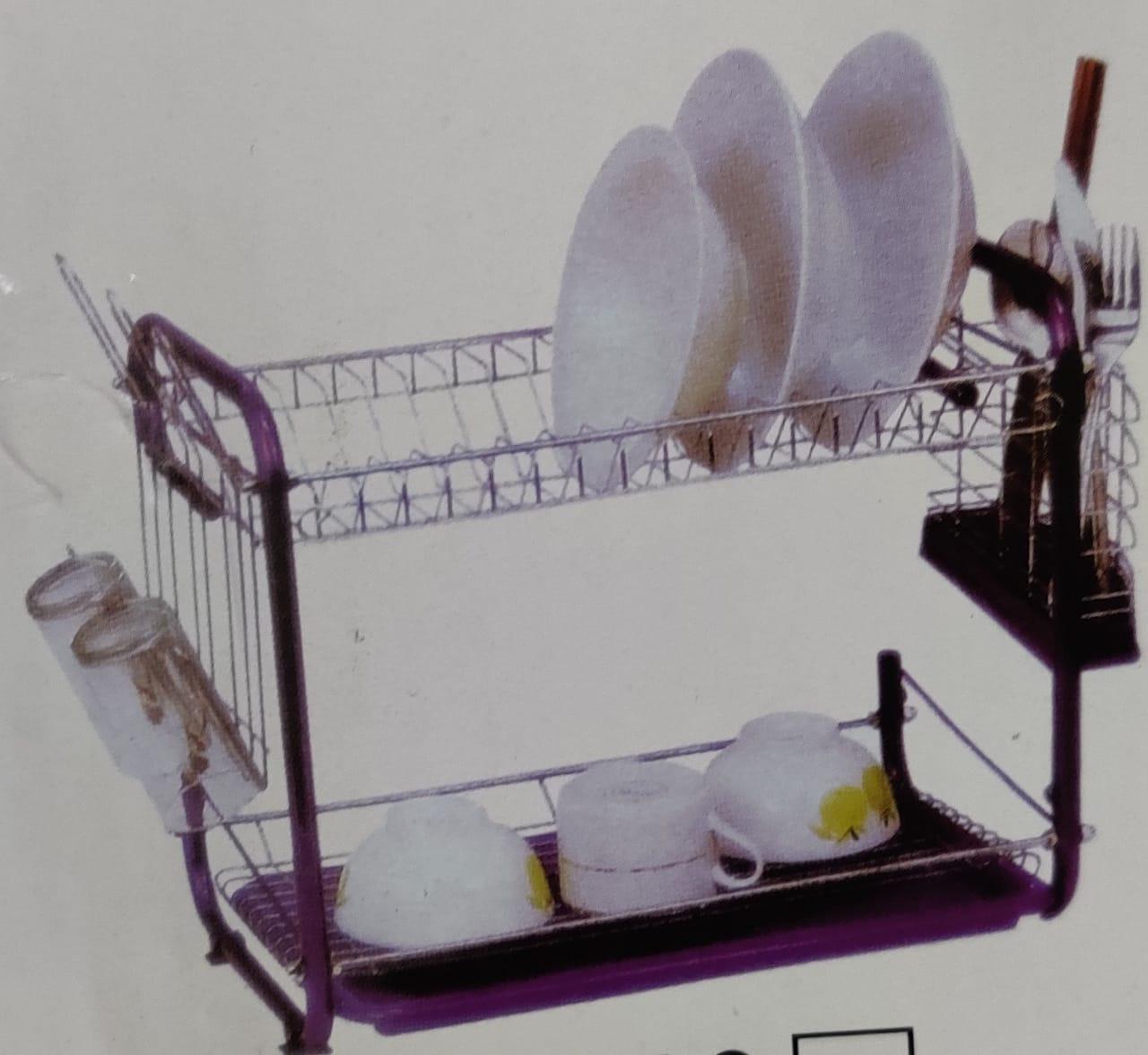 dish rack 2 layer jc 1608 purple