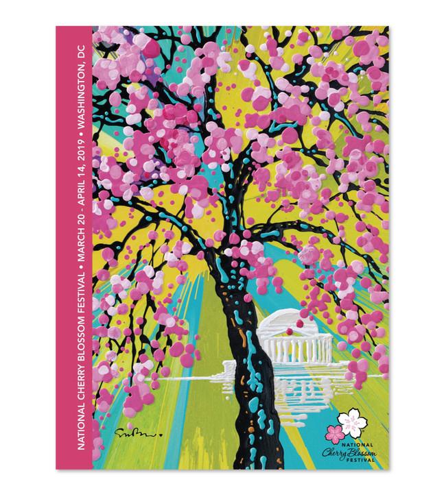 official national cherry blossom festival poster 2019 cherry blossom merchandise
