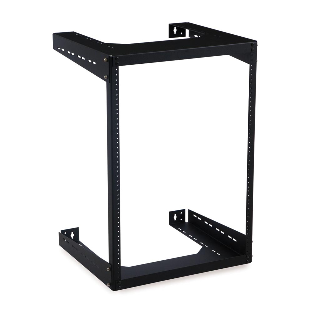 15u 18 d open frame wall mount rack with hardware
