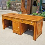 F18069 Antique Two Person Desk