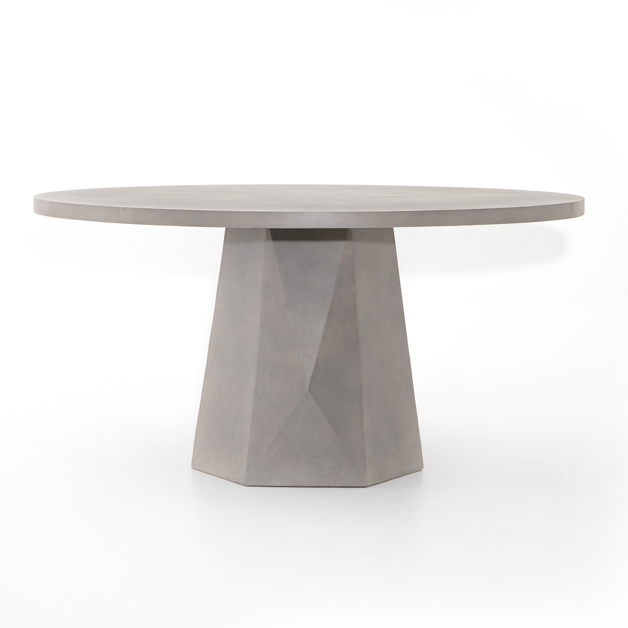 Laguna Concrete Outdoor Round Dining Table Free Shipping