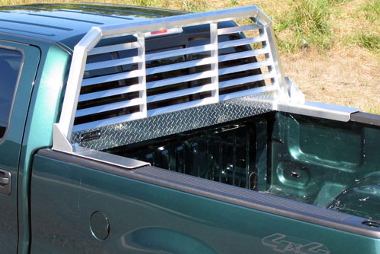 protech chevy silverado 1999 2006 aluminum louvered headache rack 57 6439 24