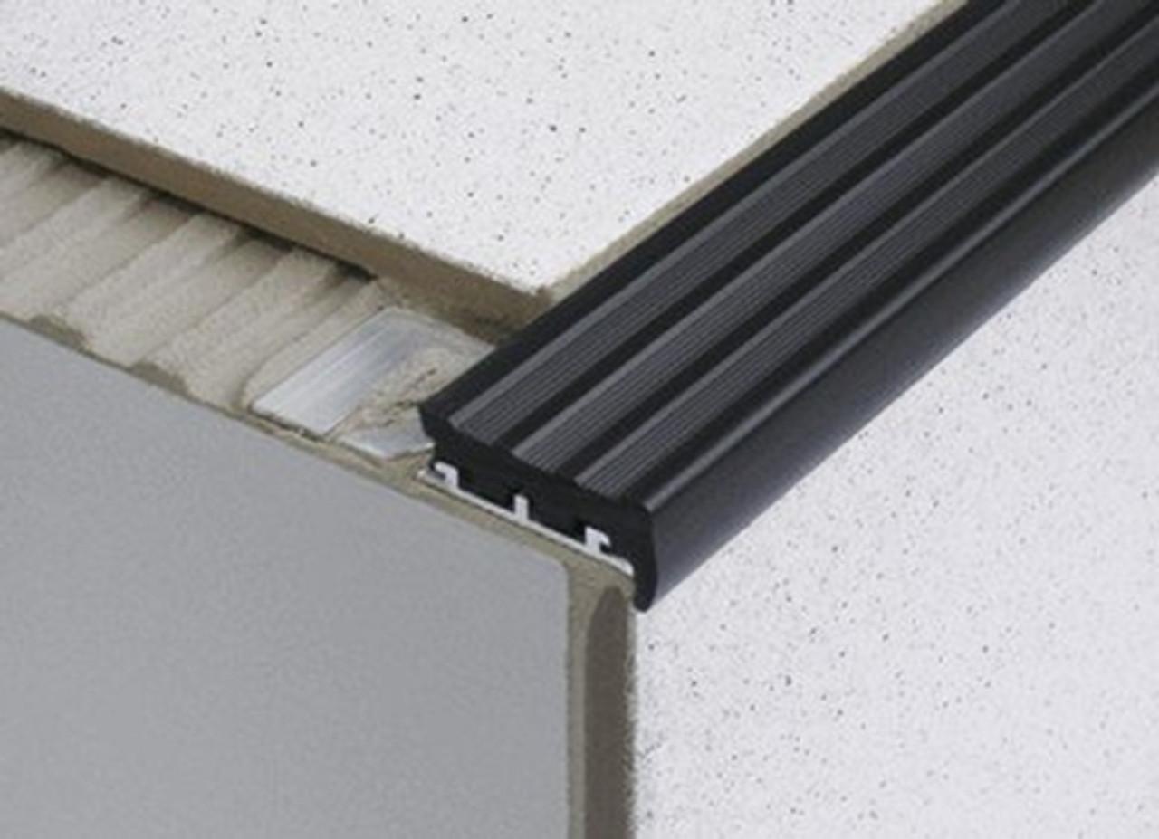 heavy duty tile in anti slip stair edge nosing for tiles 2 5m