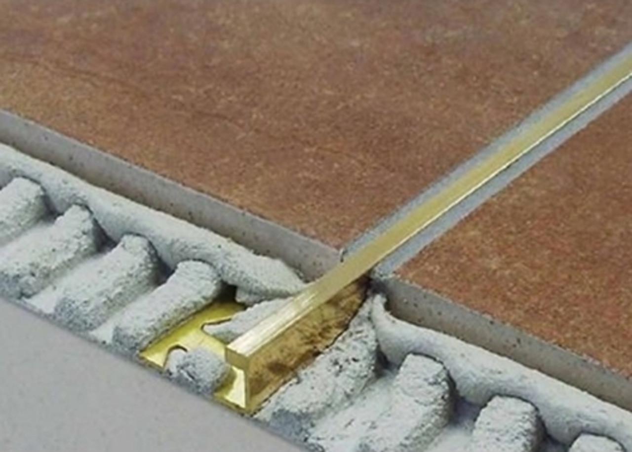 brass corner 5mil wide straight edge tile trim 2 5m