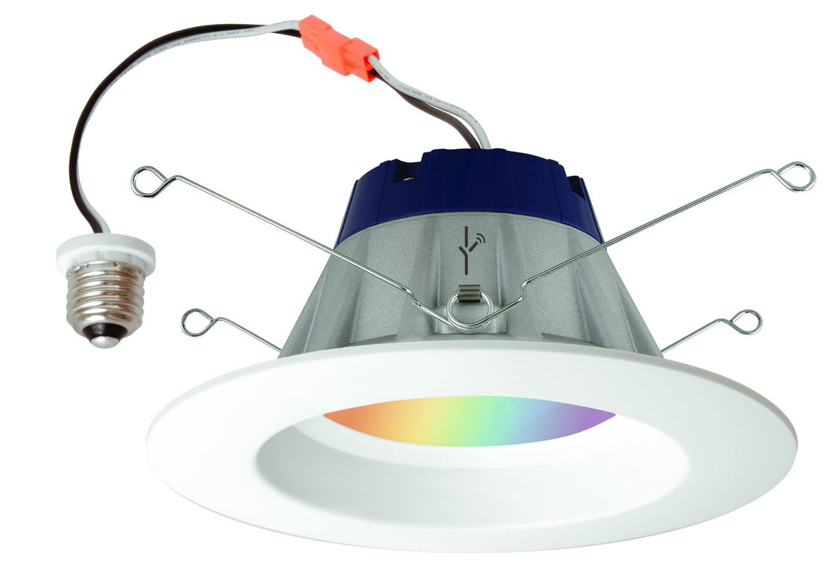 lightify color changing rgbw led smart connected 6 recessed downlight 13 5 watts by sylvania