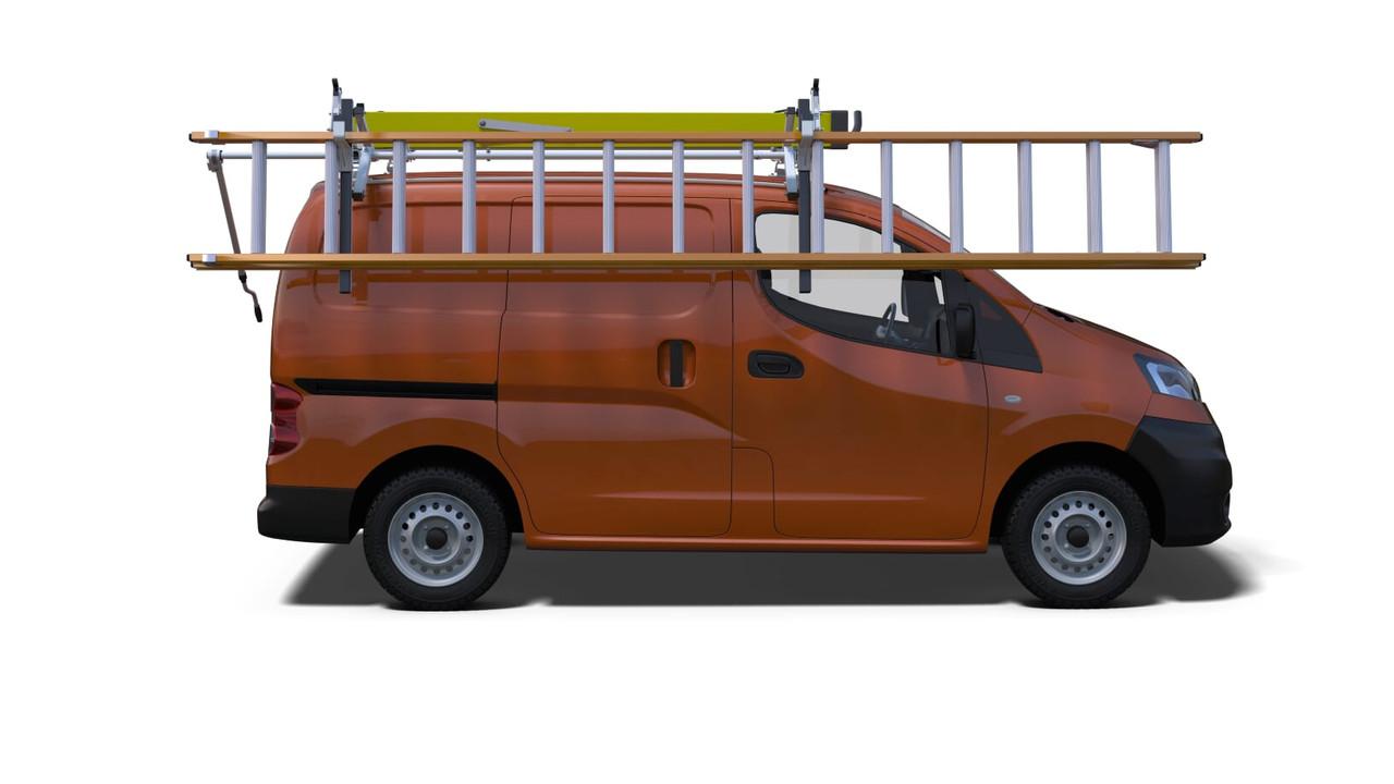 prime design ergorack drop down ladder rack nissan nv200