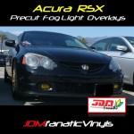 2002 2003 Acura Tsx Type S Precut Yellow Fog Light Overlays Tint