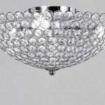 Diamond Life 3 Light Bowl Shaped Chrome Finish Metal And Crystal Shade Crystal Chandelier Flush Mount Ceiling Light By Diamond Life Diamond Life Lighting
