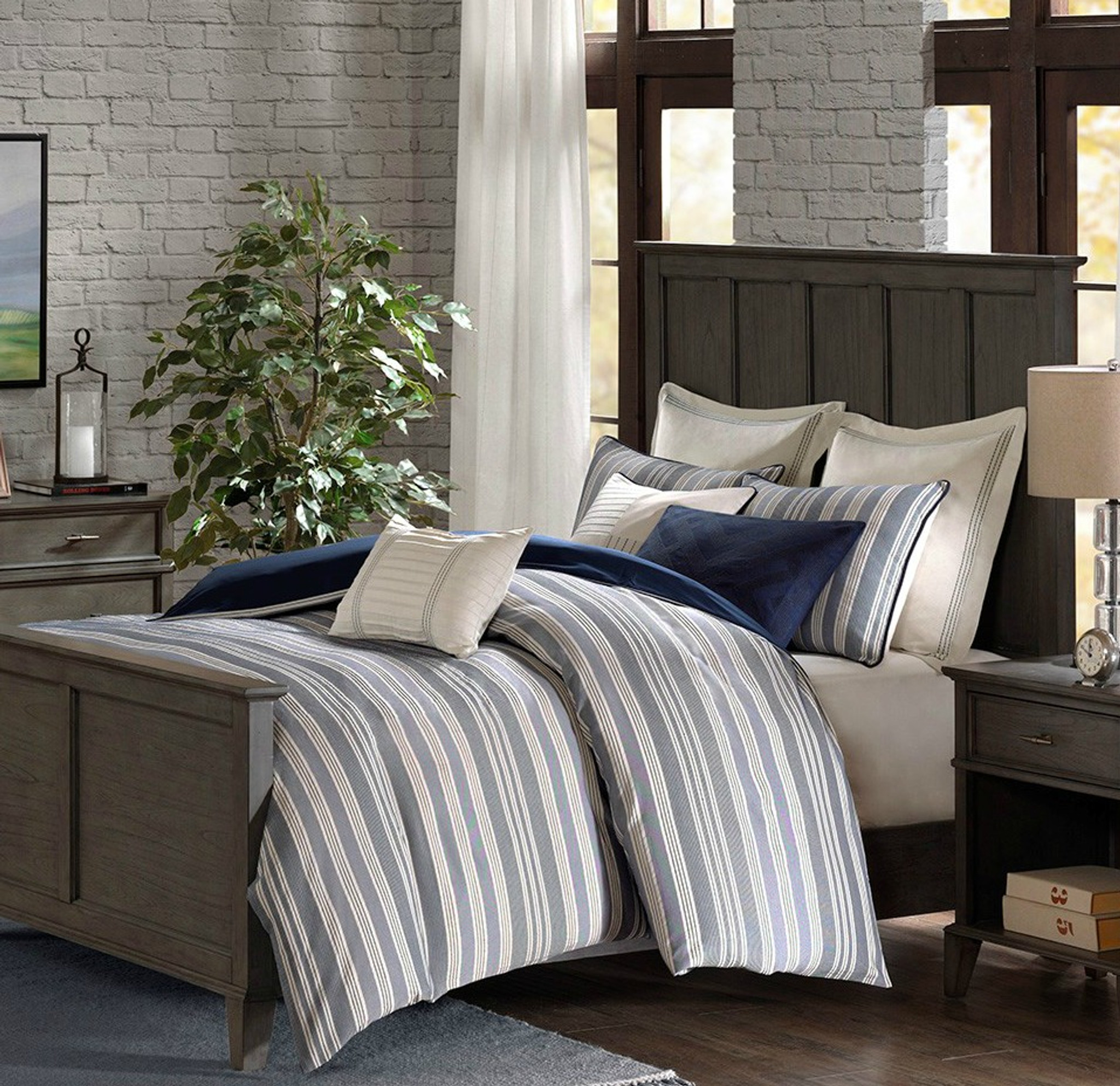 coastal farmhouse comforter king size 9 piece set